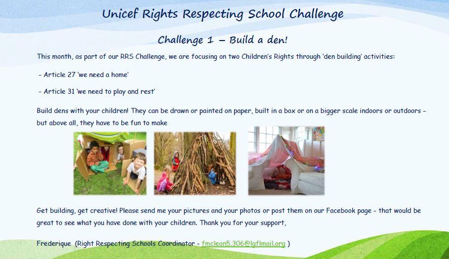 Build a Den Challenge!